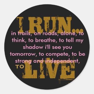I RUN... STICKERS