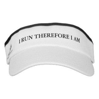 I Run Therefore I Am Visor