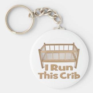 I run this Crib Keychain