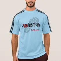 I Run this Town Custom Adidas SS T-Shirt