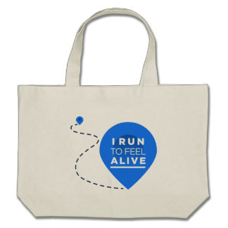 I Run To Feel ALIVE - Running Inspiration Canvas Bags