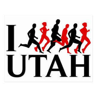 I RUN UTAH POSTCARD