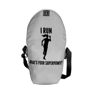 I Run What's Your Superpower? Messenger Bag