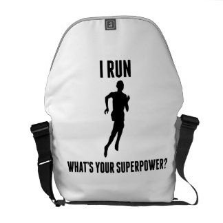 I Run What's Your Superpower? Courier Bags