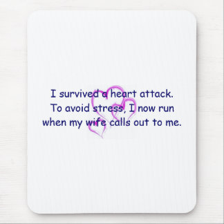 I run when my wife calls my name mouse pad