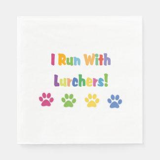 I Run With Lurchers Standard Luncheon Napkin