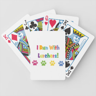 I Run With Lurchers Bicycle Playing Cards