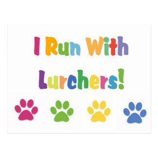 I Run With Lurchers Postcard