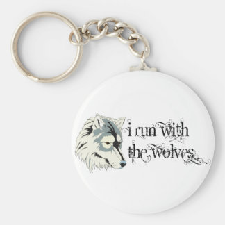 I Run With The Wolves -- Vampires Basic Round Button Keychain