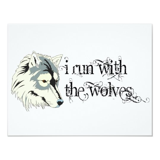 I Run With The Wolves -- Vampires Card
