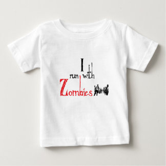 I run with Zombies Infant T-shirt