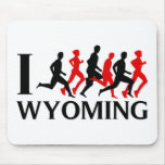 I RUN WYOMING MOUSE PAD