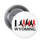 I RUN WYOMING PINBACK BUTTONS