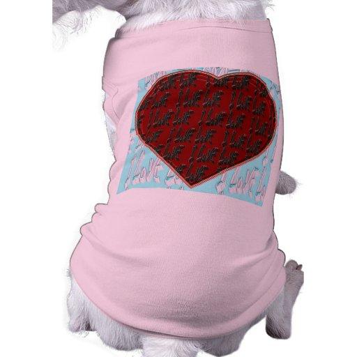 - I Ruv Ruv -SHECKSHE.COM-SheckShe* Heart- Doggie Shirt