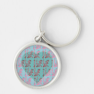 - I Ruv Ruv -SHECKSHE.COM-SheckShe* Heart- Silver-Colored Round Keychain
