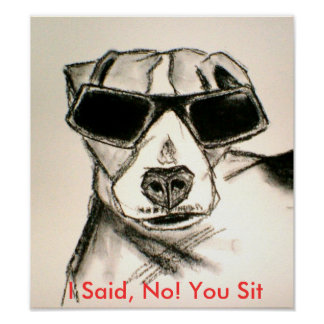 I Said, No! You Sit Poster