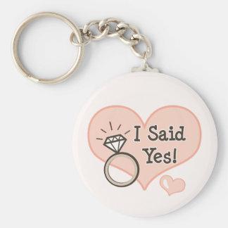 I Said Yes Engagement Key Chain