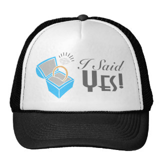 I Said Yes! (Engagement Ring Box) Trucker Hat