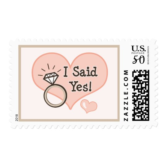 I Said Yes Engagement Save The Date Stamps
