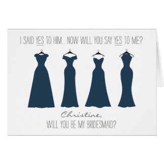 """""""I Said YES To Him, Now Will You Say YES To Me?"""" Card"""