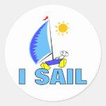 I Sail Classic Round Sticker