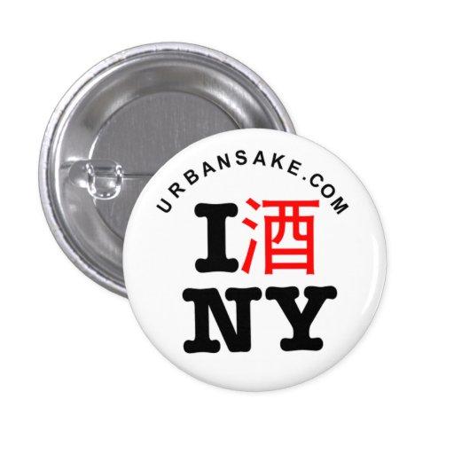 I Sake New York Button