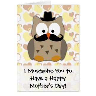 I saludo del día de madre del bigote usted tarjeton