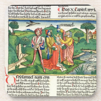 I Samuel 10 The coronation and annointing of Saul, Beverage Coaster