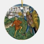 I Samuel 17 1-58 David defeats Goliath and meets S Ceramic Ornament