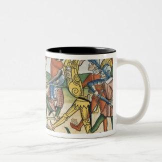 I Samuel 28 1-2 The Philistines war against Israel Two-Tone Coffee Mug