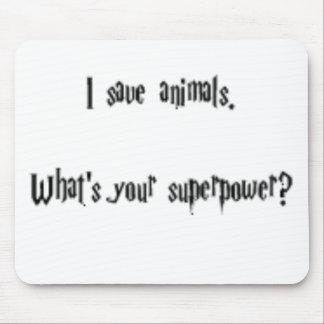 I Save Animals Mouse Mat