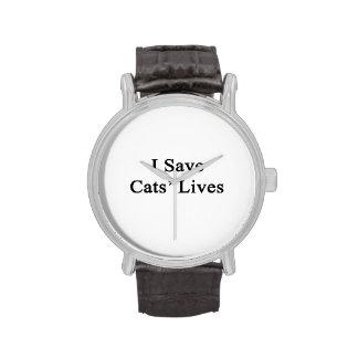 I Save Cats' Lives Wristwatch