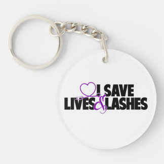 I save lives and lashes keychain