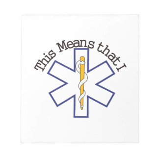 I Save Lives Notepad