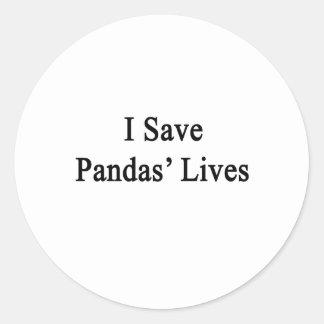 I Save Pandas' Lives Sticker