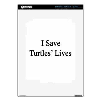 I Save Turtles' Lives iPad 3 Decals