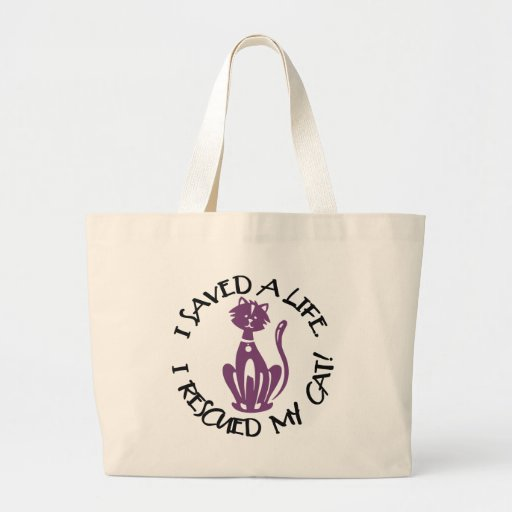I Saved My Cat Tote Bags