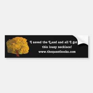 I saved the Land Bumper Sticker Car Bumper Sticker