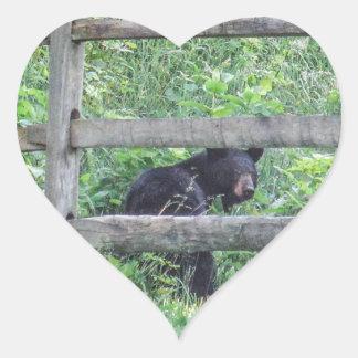 I Saw a Bear! Heart Sticker