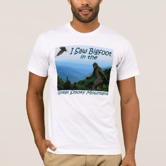 I Saw Bigfoot-Great Smoky Mountains Fitted T-shirt