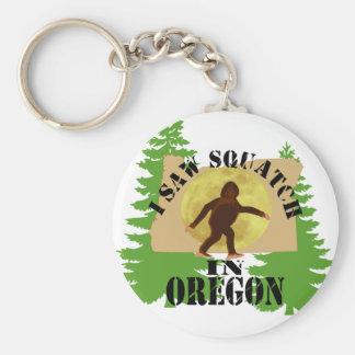 I Saw Bigfoot Squatch in Oregon Keychain
