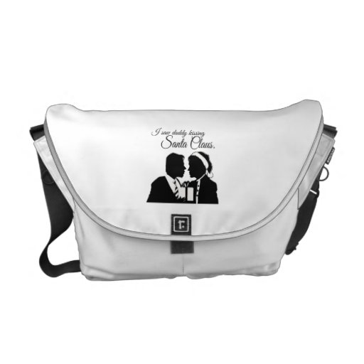 I SAW DADDY KISSING SANTA CLAUS -.png Courier Bag