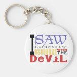 I Saw Goody Osbourne w/ The Devil Basic Round Button Keychain