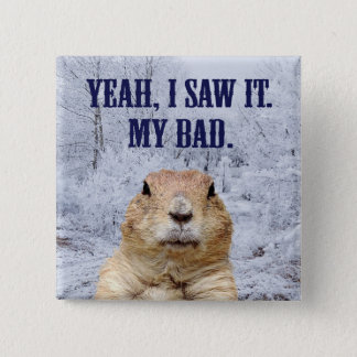 I Saw It Groundhog Day Pinback Button