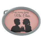 I SAW MOMMY KISSING MRS. CLAUS BELT BUCKLES