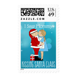 I Saw Mommy Kissing Santa Claus Postage