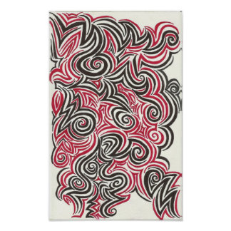 I Saw Red and Black Print