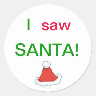 I Saw Santa Stickers