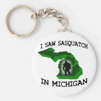 I Saw Sasquatch In Michigan Keychain