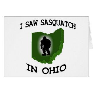 I Saw Sasquatch In Ohio Card